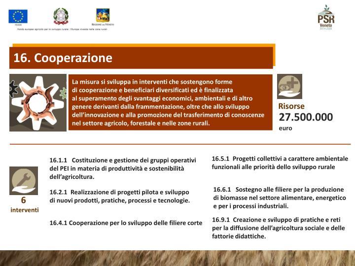 16. Cooperazione