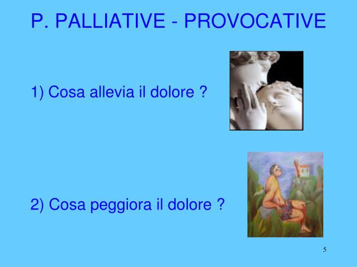 P. PALLIATIVE - PROVOCATIVE
