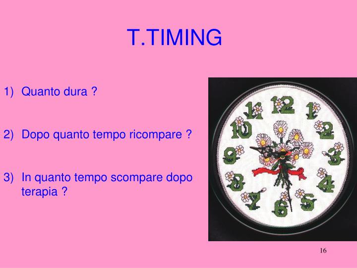 T.TIMING