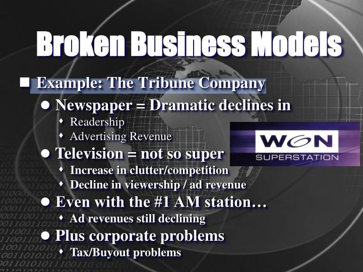 Broken Business Models