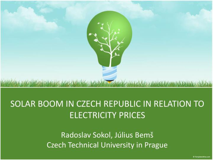Solar boom in czech republic in relation to electricity prices