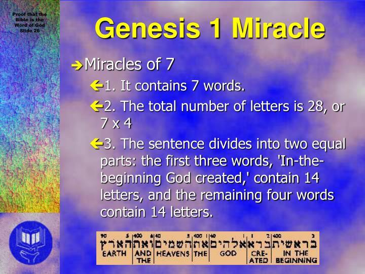 Genesis 1 Miracle