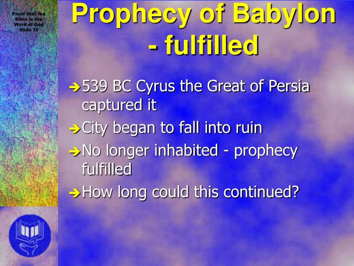 539 BC Cyrus the Great of Persia captured it