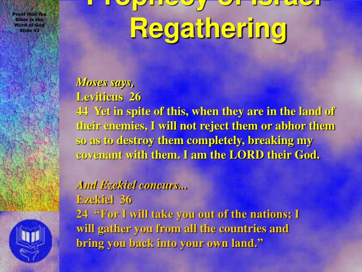 Prophecy of Israel- Regathering