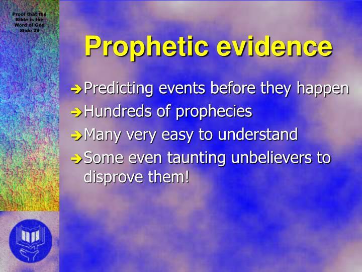 Prophetic evidence