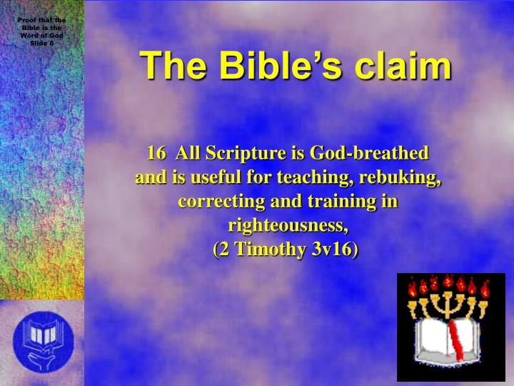 The Bible's claim
