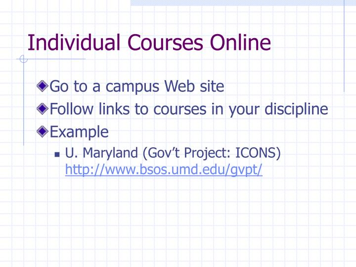 Individual Courses Online