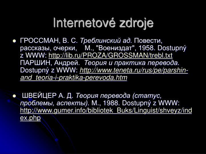 Internetov zdroje