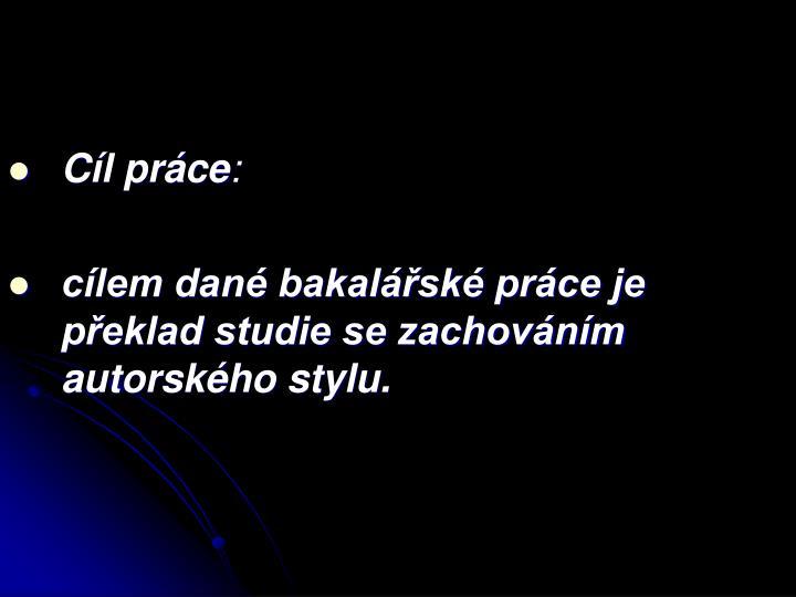 Cl prce