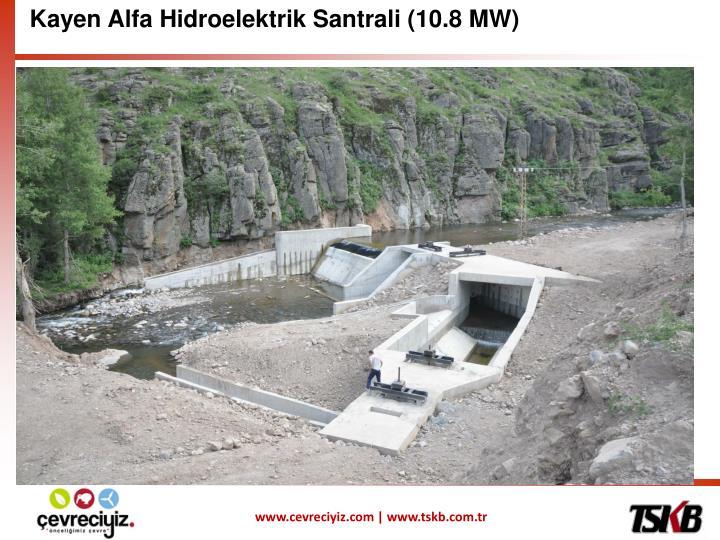 Kayen Alfa Hidroelektrik Santrali (10.8 MW)