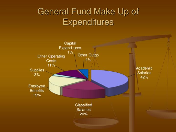 General Fund Make Up of Expenditures