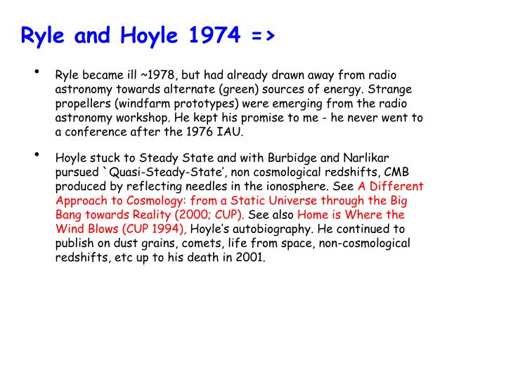 Ryle and Hoyle 1974 =>