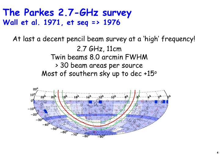 The Parkes 2.7-GHz survey