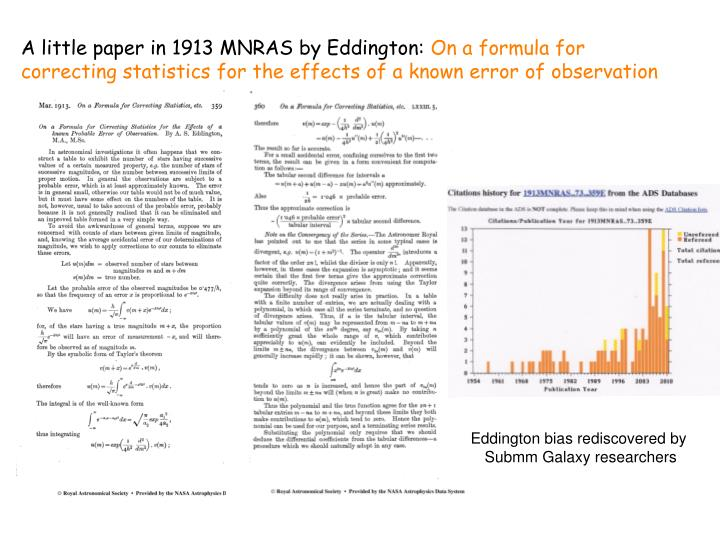 A little paper in 1913 MNRAS by Eddington: