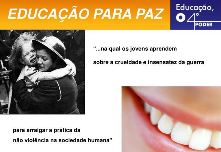 EDUCAÇÃO PARA PAZ