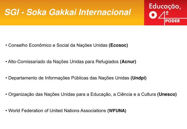 SGI - Soka Gakkai Internacional