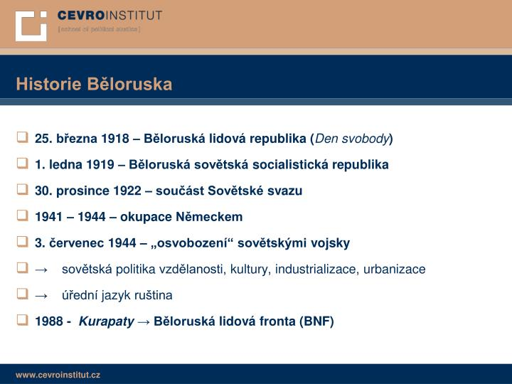 Historie Běloruska