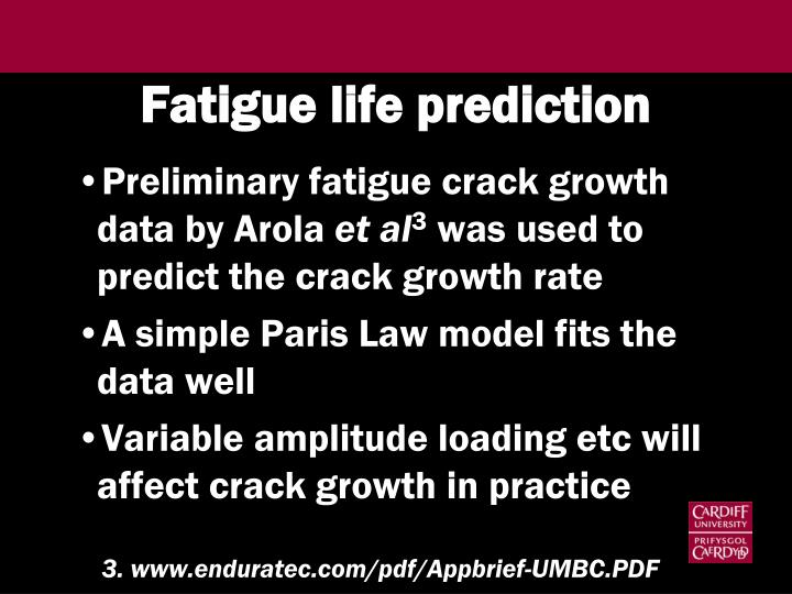 Fatigue life prediction