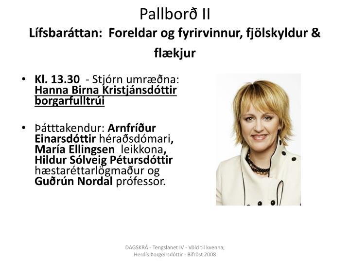 Pallborð II