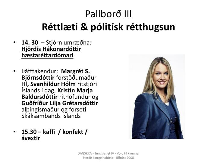 Pallborð III