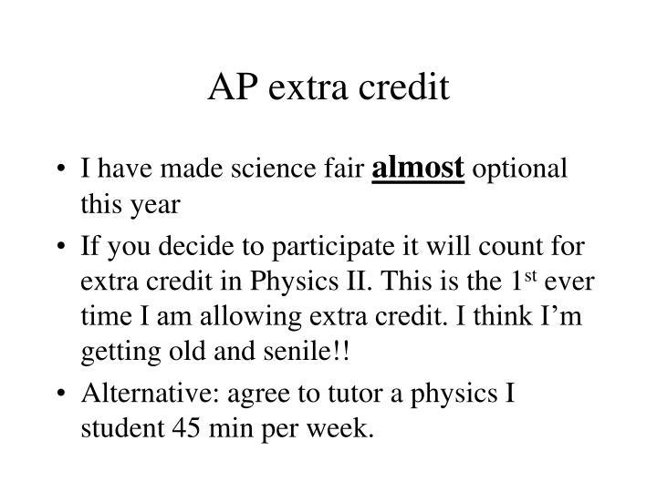 AP extra credit
