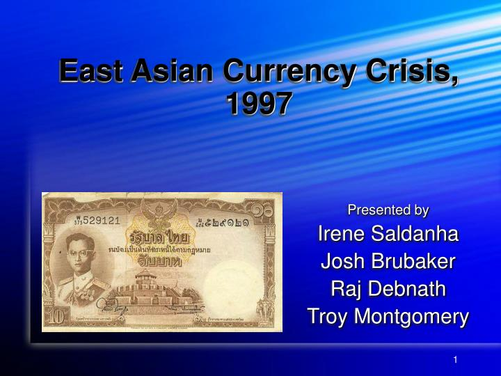 East asian currency crisis 1997