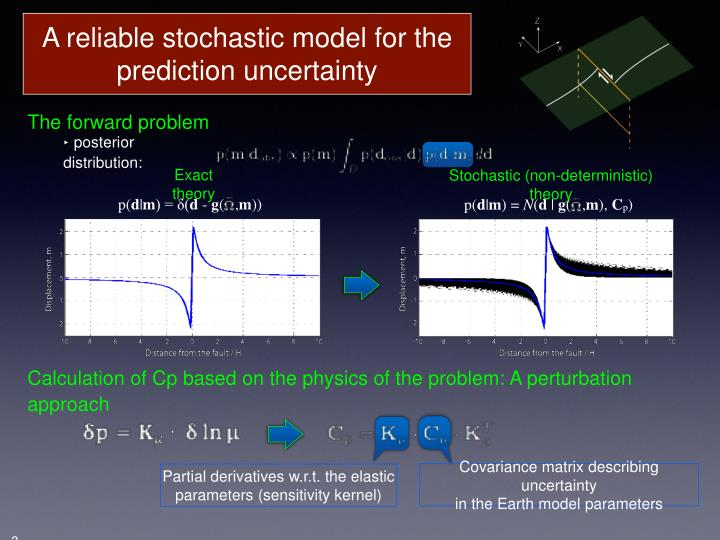 A reliable stochastic model for the prediction uncertainty