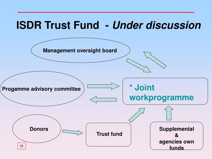 ISDR Trust Fund  -