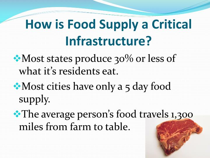 How is Food Supply a Critical Infrastructure?
