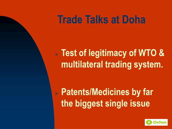 Trade talks at doha
