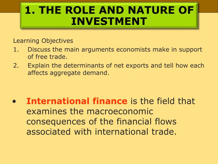 1 the role and nature of investment