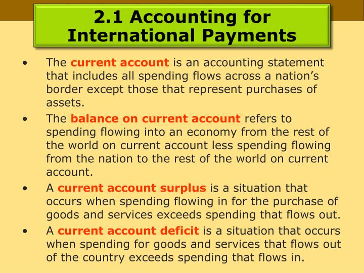 2.1 Accounting for International Payments