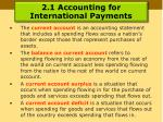 2 1 accounting for international payments