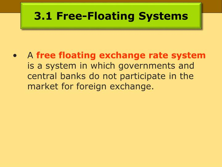 3.1 Free-Floating Systems