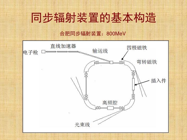 同步辐射装置的基本构造