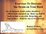 exercises to decrease the strain on your back1