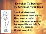 exercises to decrease the strain on your back2