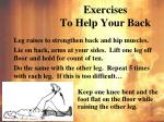 exercises to help your back2