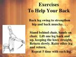 exercises to help your back5
