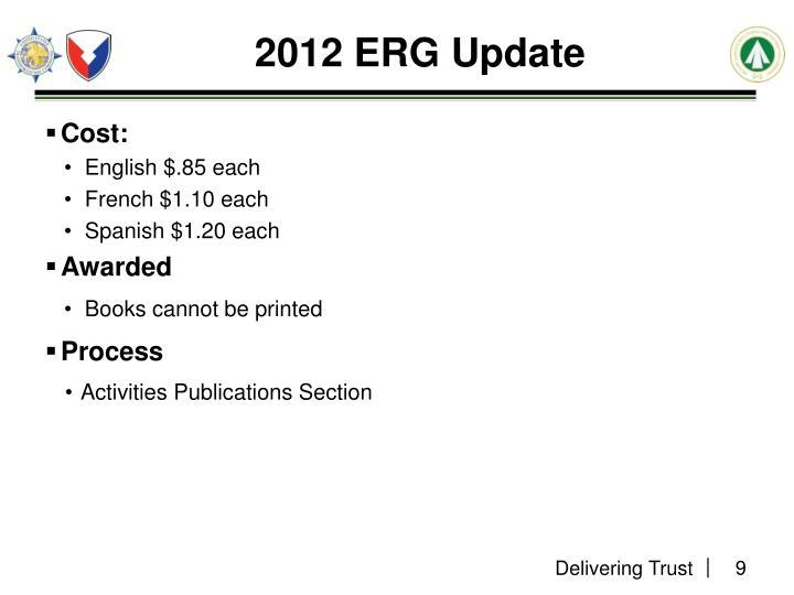 2012 ERG Update