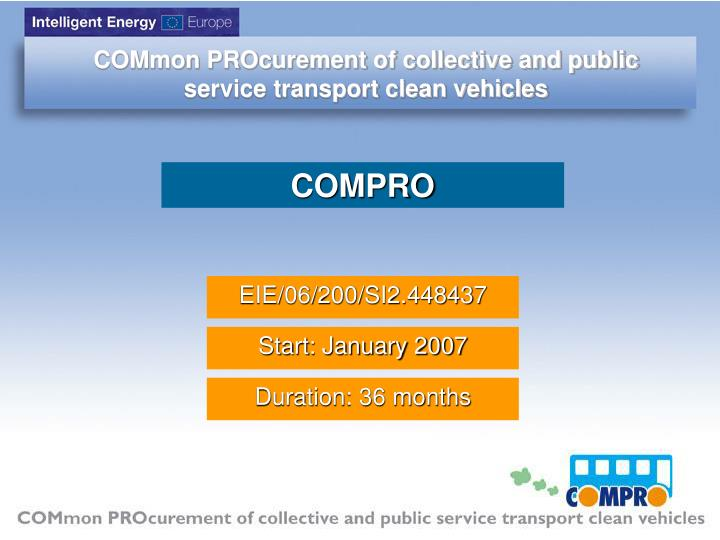 COMmon PROcurement of collective and public service transport clean vehicles