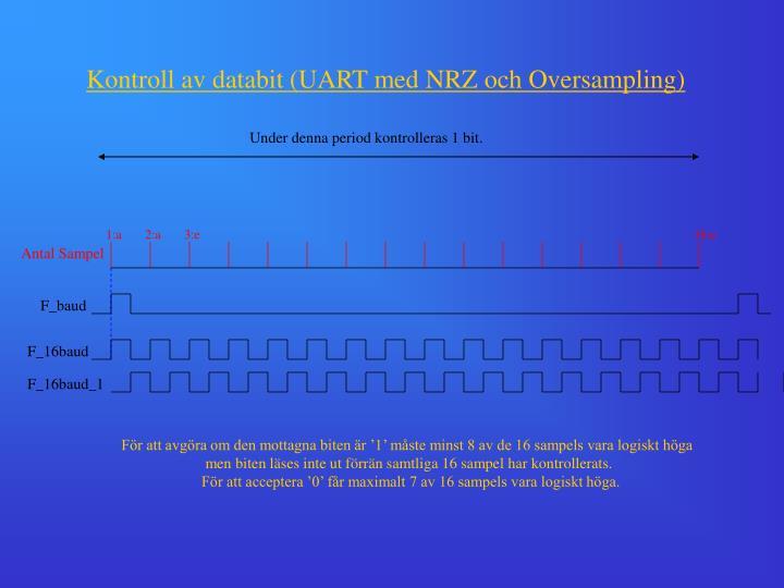 Kontroll av databit (UART med NRZ och Oversampling)