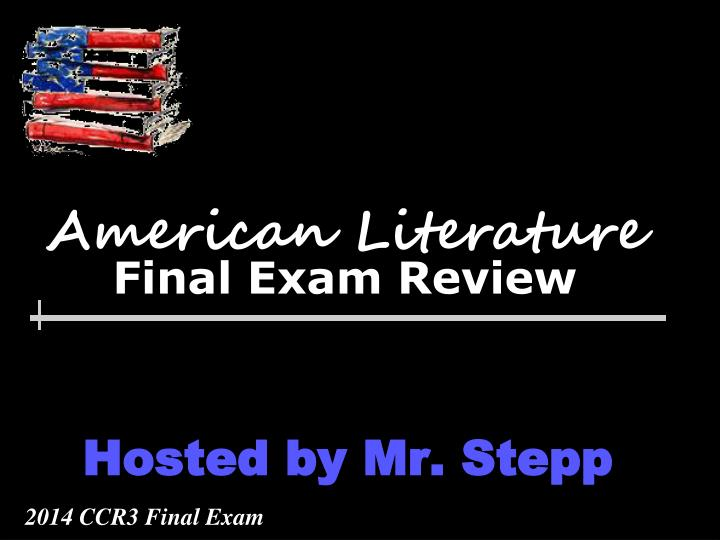 American literature final exam review