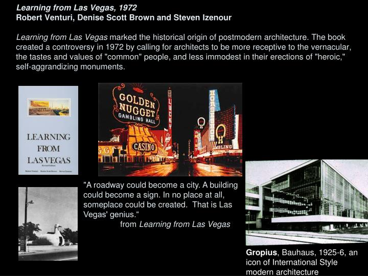 Learning from Las Vegas, 1972