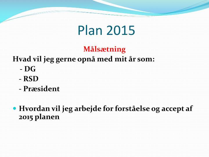 Plan 2015