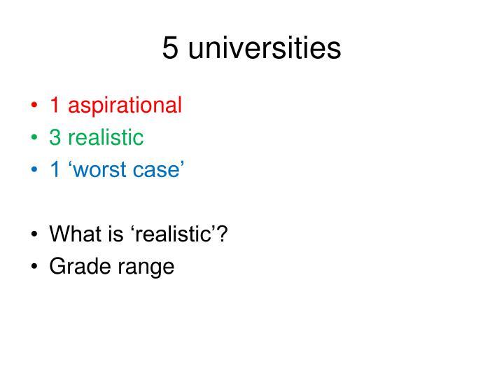 5 universities