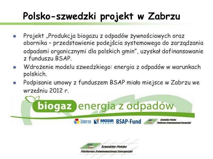 Polsko-szwedzki projekt w Zabrzu
