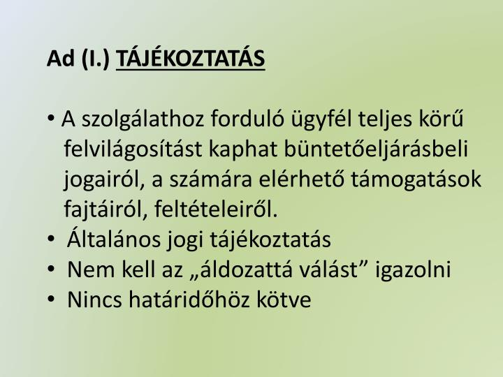 Ad (I.)
