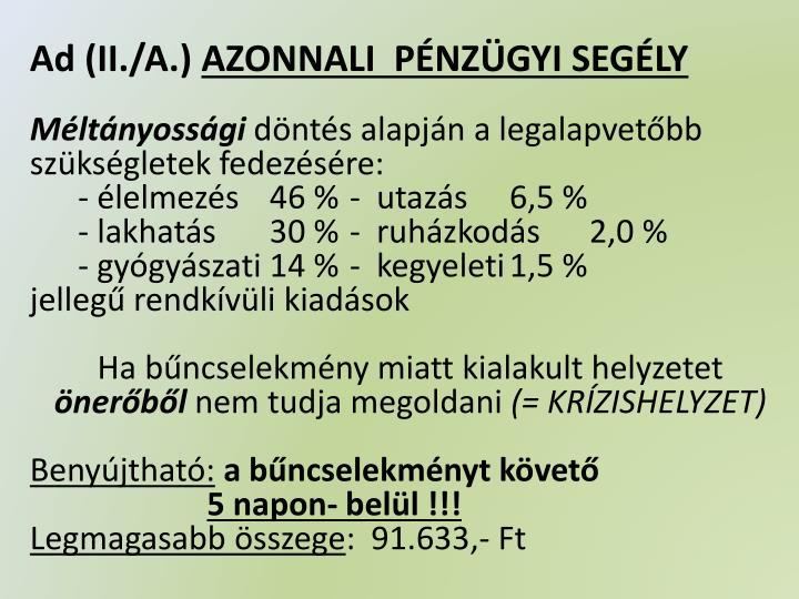 Ad (II./A.)