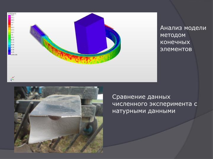 Анализ модели методом конечных элементов